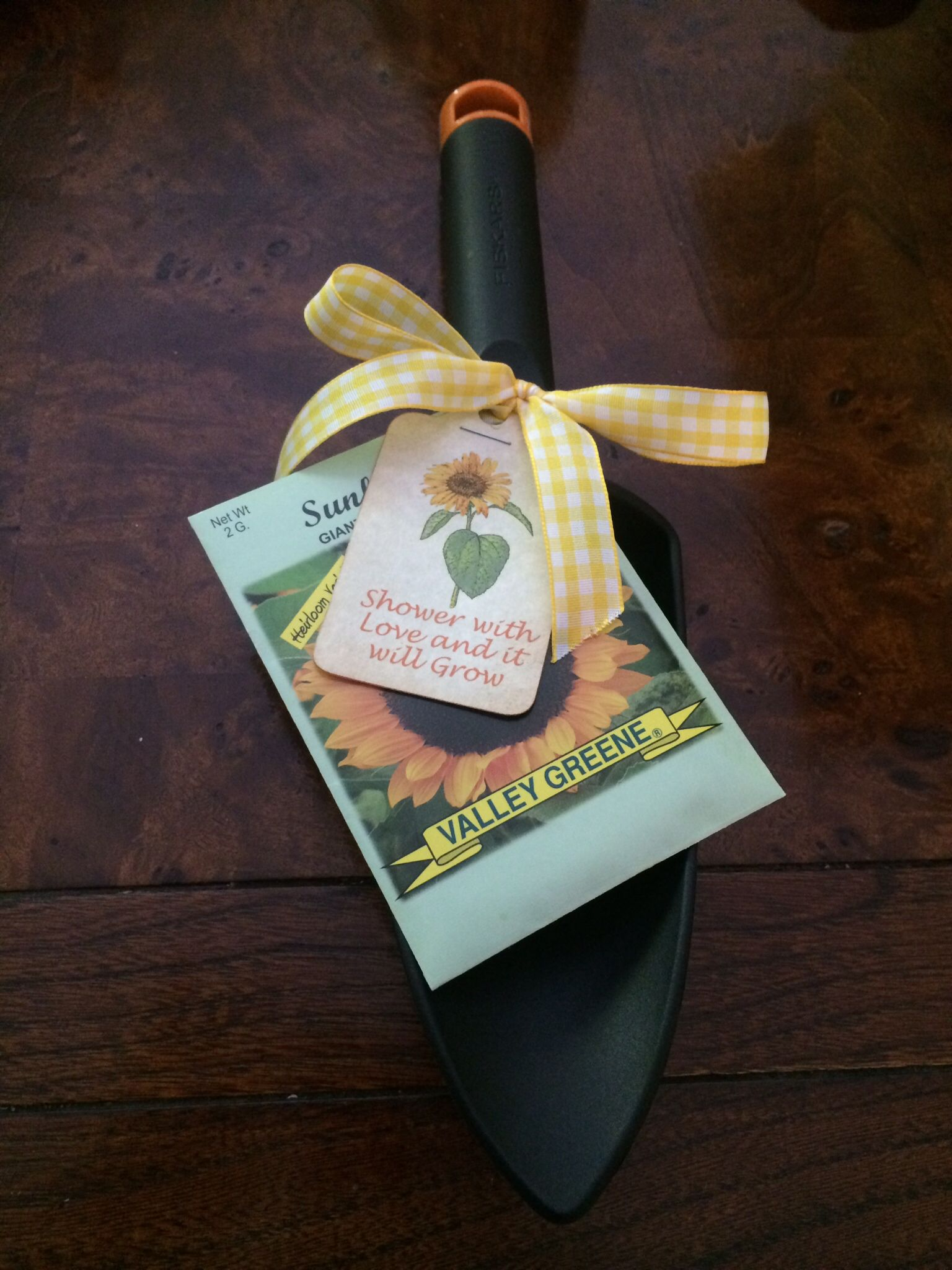 Favors for a sunflower themed bridal shower.