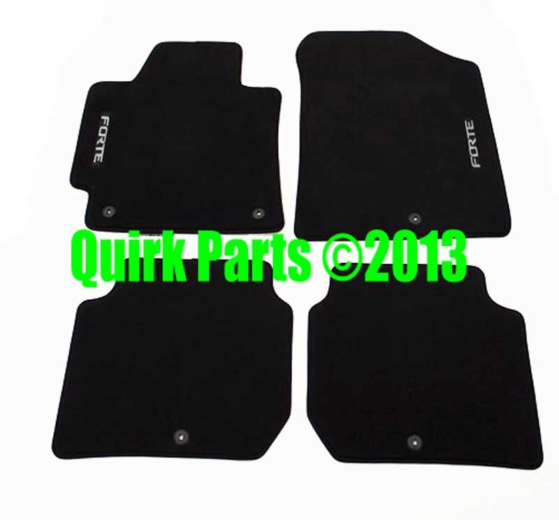 2013 2014 Kia Forte Front Rear Carpeted Floor Mats Genuine Oem