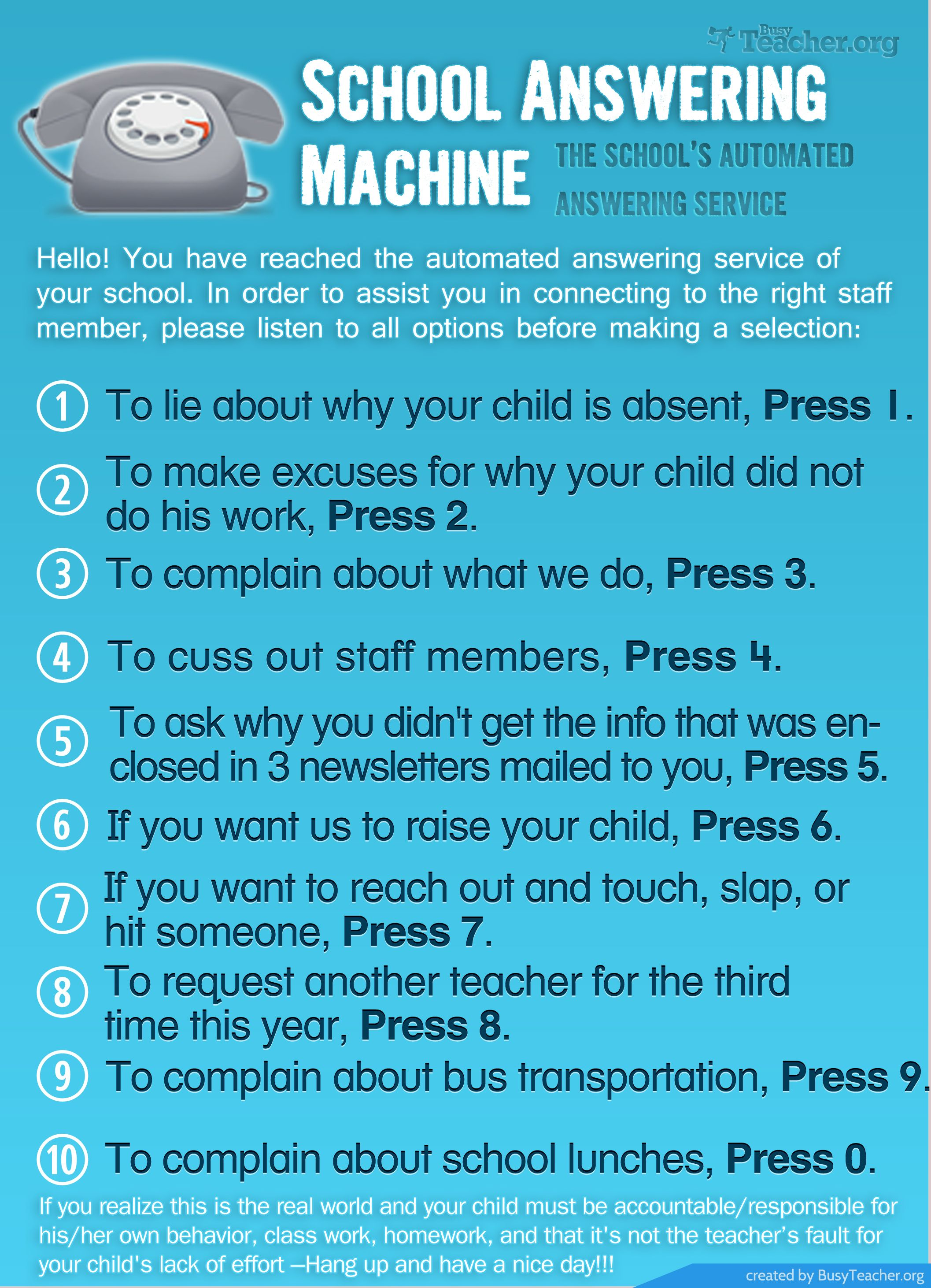School Answering Machine Poster Teaching Humor Teacher Humor Teacher Quotes Funny