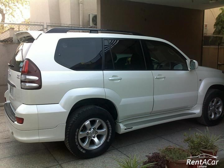 Luxury Prado Now Available In White Silver Gray Metallic Colour Best Car Rental Honda City Rent A Car