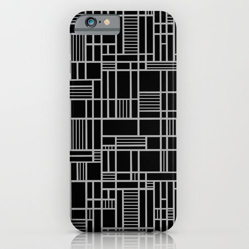 Map Lines Silver iPhone Case
