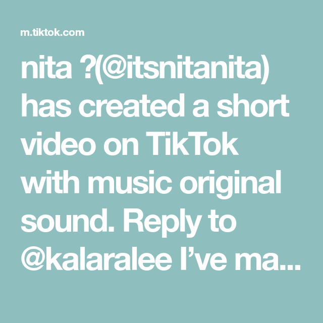 Nita Itsnitanita Has Created A Short Video On Tiktok With Music Original Sound Reply To Kalaralee I Ve Man Comedy Skits The Lennon Sisters The Originals
