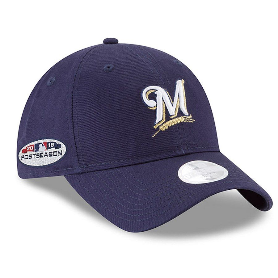 premium selection da489 46567 Women s Milwaukee Brewers New Era Navy 2018 Postseason Side Patch 9TWENTY  Adjustable Hat, Your Price   21.99