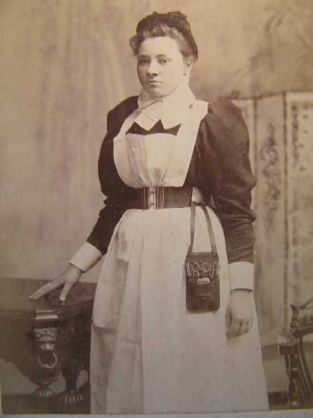 9534e91bc9a Victorian Nurse with Chatelaine (instrument kit hanging from her ...