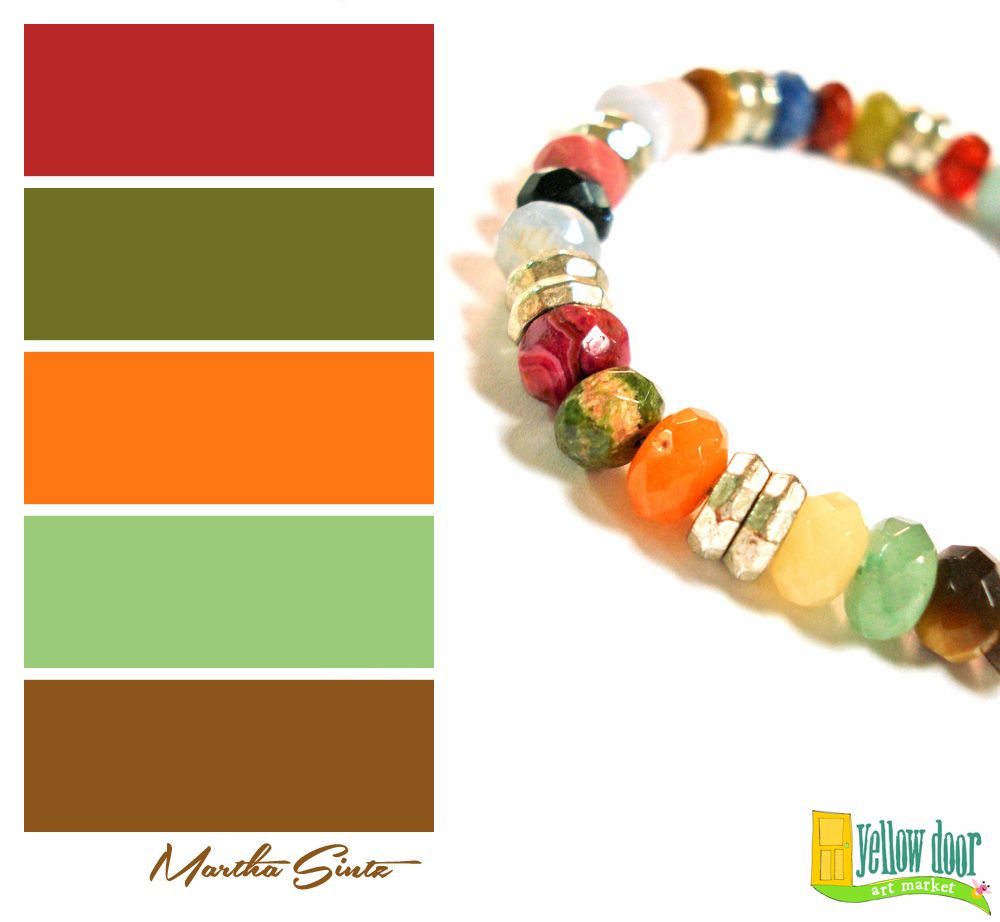 Marvelous multicolor beaded bracelet by martha steding sintz