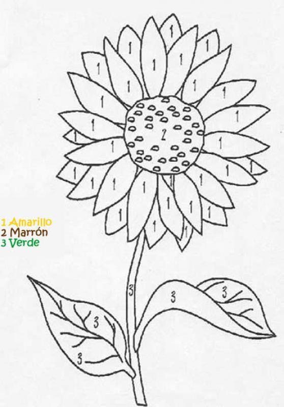 Juego infantil : Juego de colorear FLOR | Education | Pinterest ...