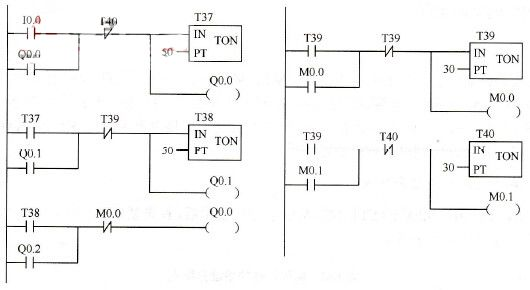 siemens s7-200 plc's belt conveyor control programming example, Wiring diagram