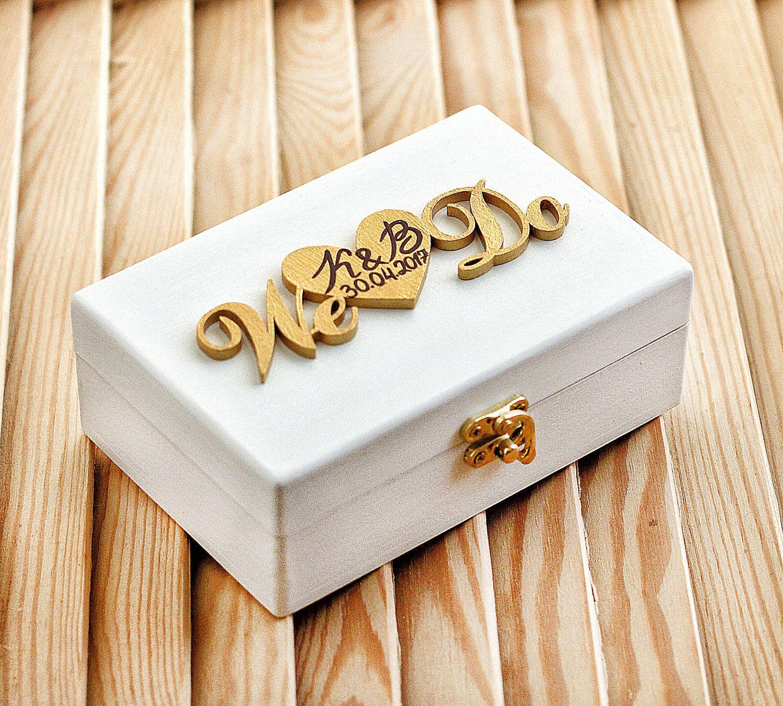 wedding ring box we do, ring bearer pillow alternative, wood