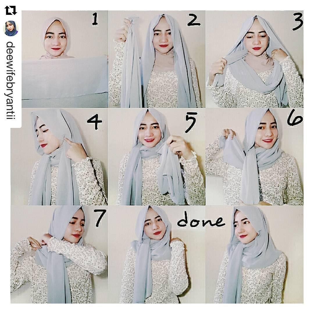 Via Pinterest Com Tutorial Hijab Pashmina Tutorial Hijab Mudah Hijab Chic