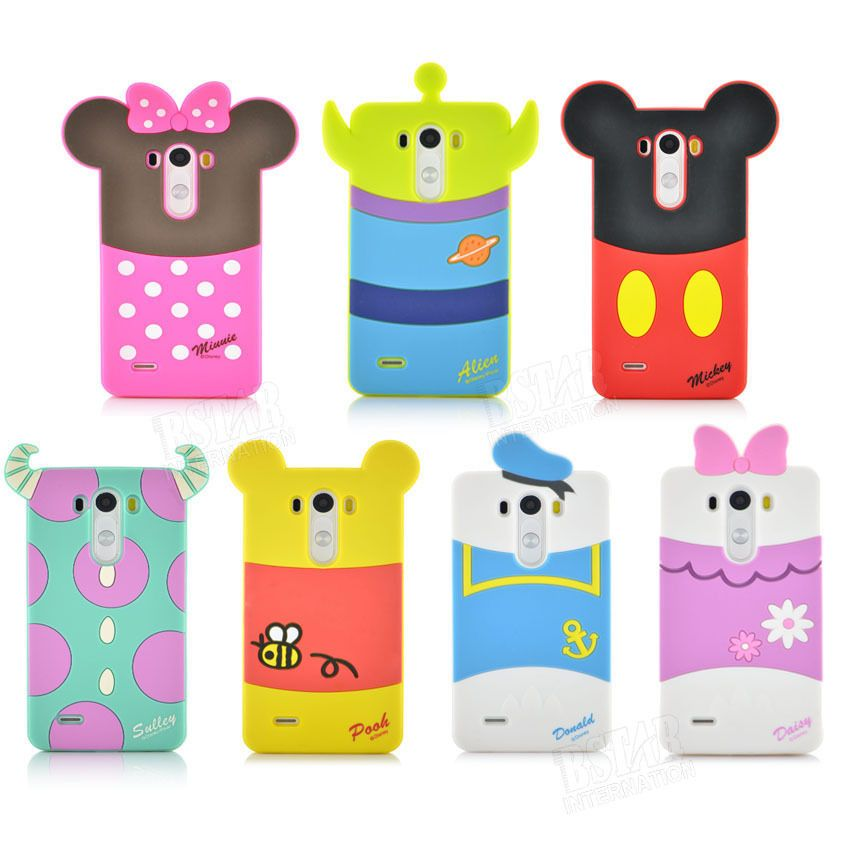 online store 93220 f125e New Arrival Pretty Cute Cartoon Soft Silicon Phone Cover Case For LG ...