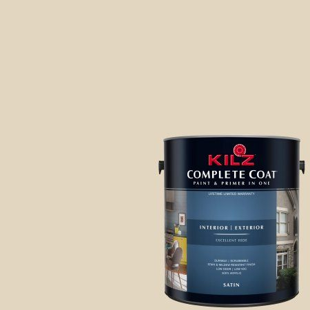 Kilz Complete Coat Interior Exterior Paint Primer In One Lk250 Navajo White Beige Products Paint Primer Exterior Paint Coat Paint