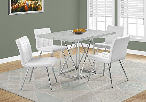 """Monarch I 1043 Dining Table36""""x 48""""grey Cementchrome Mhttps Captivating 36 Dining Room Table Decorating Inspiration"""