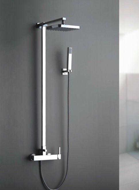 Bathroom With Handheld Shower Rainfall Shower Head Faucet Set YS-1211