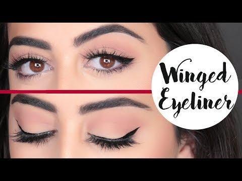 How To Perfect Winged Eyeliner رسم الآيلاينر المجنح كالمحترفين Eyeliner Makeup Eyeliner Eyeshadow