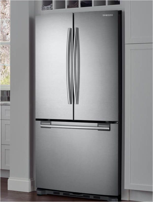 Samsung 33 In W 19 4 Cu Ft French Door Refrigerator In Stainless Steel Rf20hfenbsr The Home Depot French Door Refrigerator French Doors Diy Kitchen Remodel