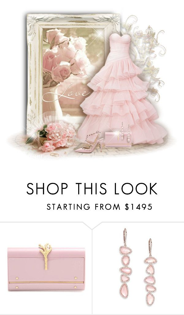 """Pink Roses"" by helenehrenhofer ❤ liked on Polyvore featuring Valentino, Meira T, women's clothing, women, female, woman, misses and juniors"