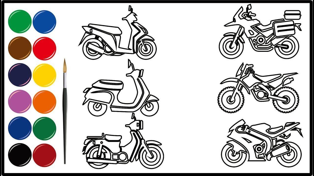 Menggambar Kendaraan Motor Dengan Gambar Belajar Menggambar