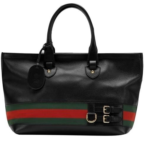 Gucci Top Heritage Large Tote 247574 Black $226