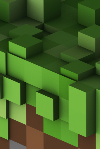 3D Green Cube Minecraft, Retina wallpaper, Cool iphone 5