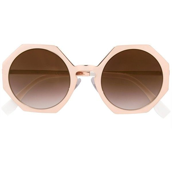 74c1547cdb42 Fendi  Faces  sunglasses (1.800 RON) ❤ liked on Polyvore featuring  accessories