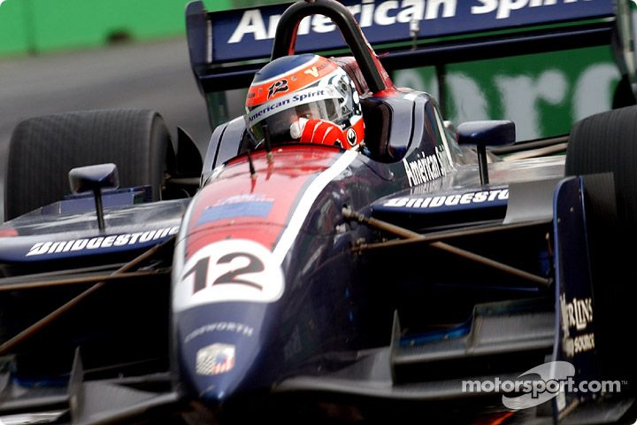 American Spirit Team Johansson in the Champ Car series racing a ...