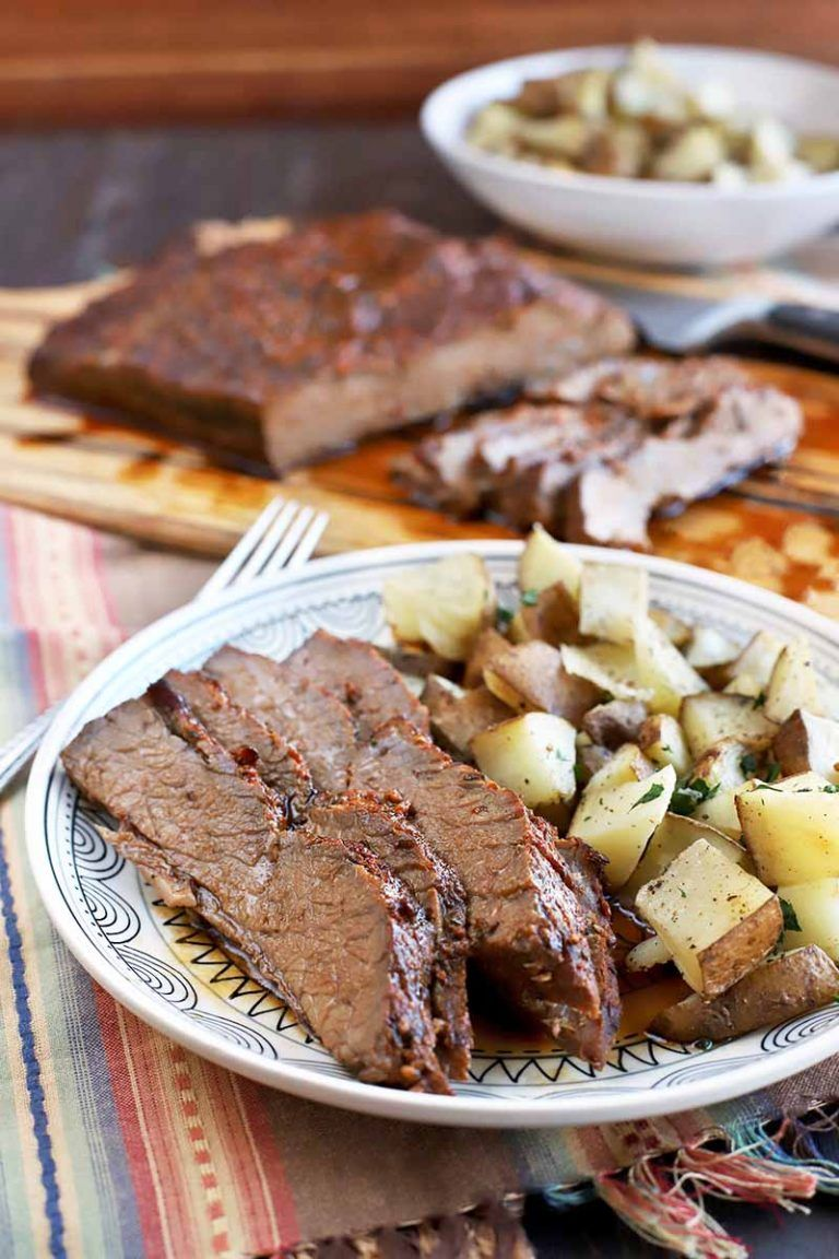 Make The Best Oven Roasted Beef Brisket For Dinner Tonight Foodal Recipe Beef Brisket Beef Brisket Recipes Oven Roasted Brisket