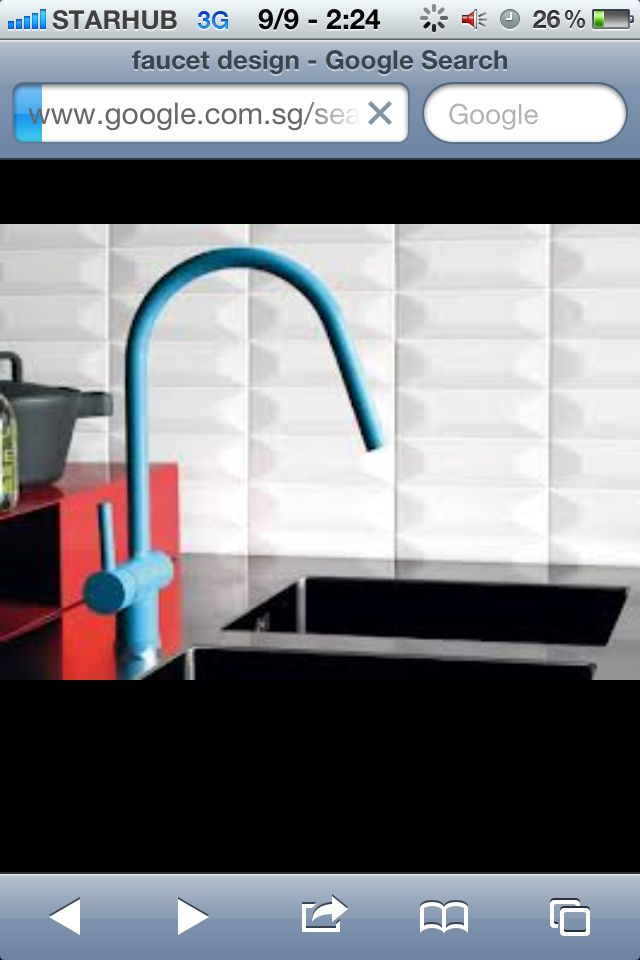 Colorful Kitchen Supplies: Industrial-style Kitchen Tap