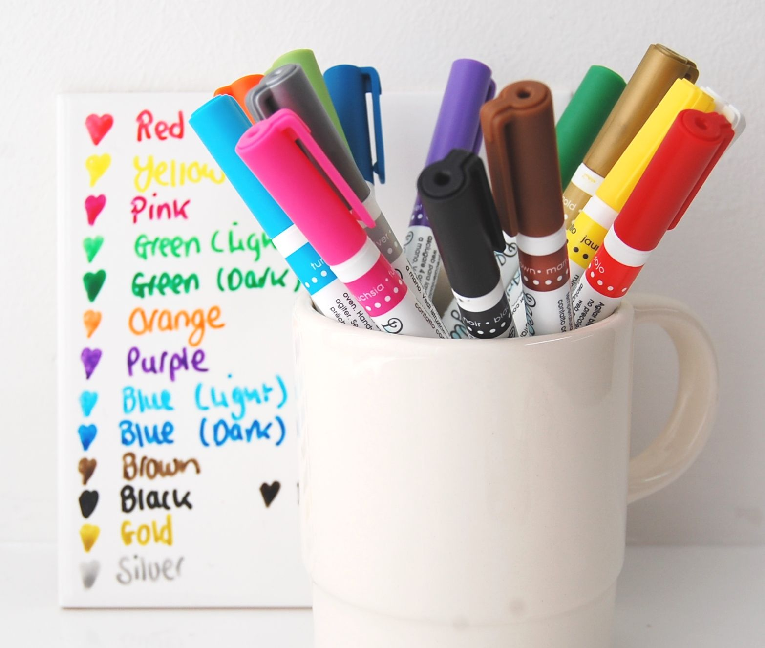 Diy Paint A Mug Or Glazed Ceramic Tile Using Decoart Glass Paint Marker Quality Paint Markers Designed For Glass And Gl Glass Paint Markers Glass Painting Mugs