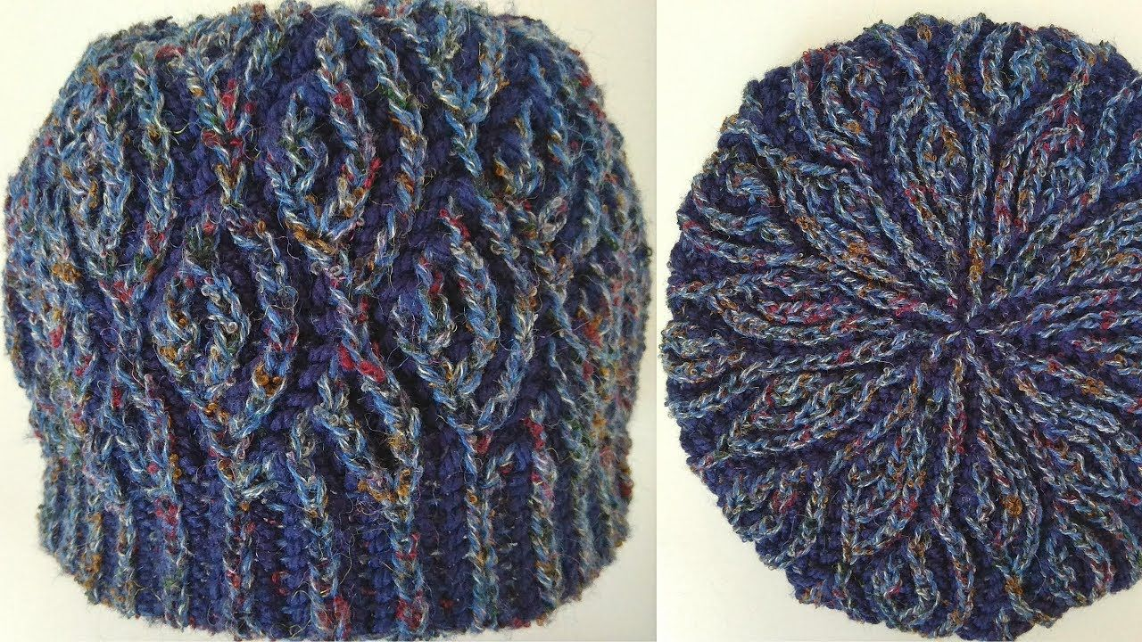 Fish scales knitting pattern hat in two-color brioche stitch + free ...