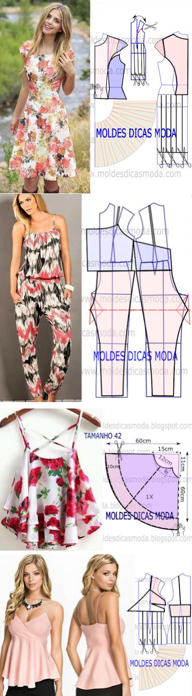 Confecciones sensillas | bases vestidos | Pinterest | Selber machen ...