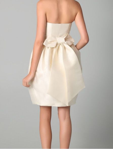 Mini Strapless Dress With Bow In Back
