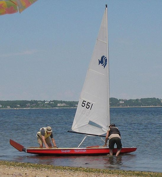 Super Sunfish Laser Sailboat Sailboat Boat
