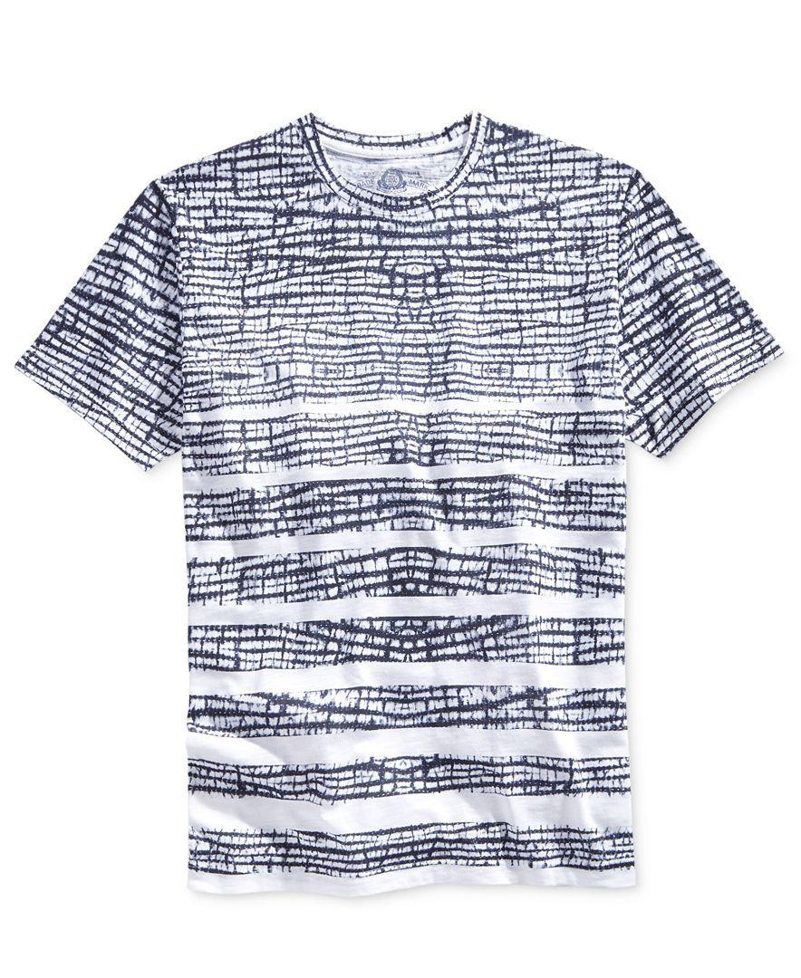 American Rag Men s Shibori-Stripe T-Shirt 3045b6b668c