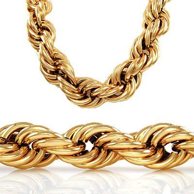 48e7e32cd9880 30 inch 20mm GOLD STYLE THICK ROPE RUN DMC DOOKIE HIP HOP CHAIN ...