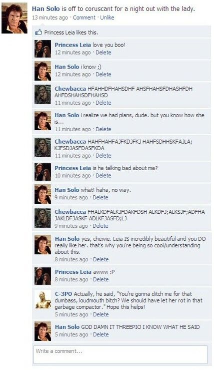 Han Solo Facebook Star Wars Funny