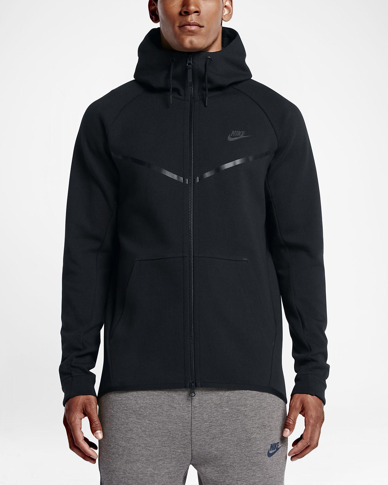 Discount Nike Sportswear Tech Fleece Full-Zip Hoodie Mens Black
