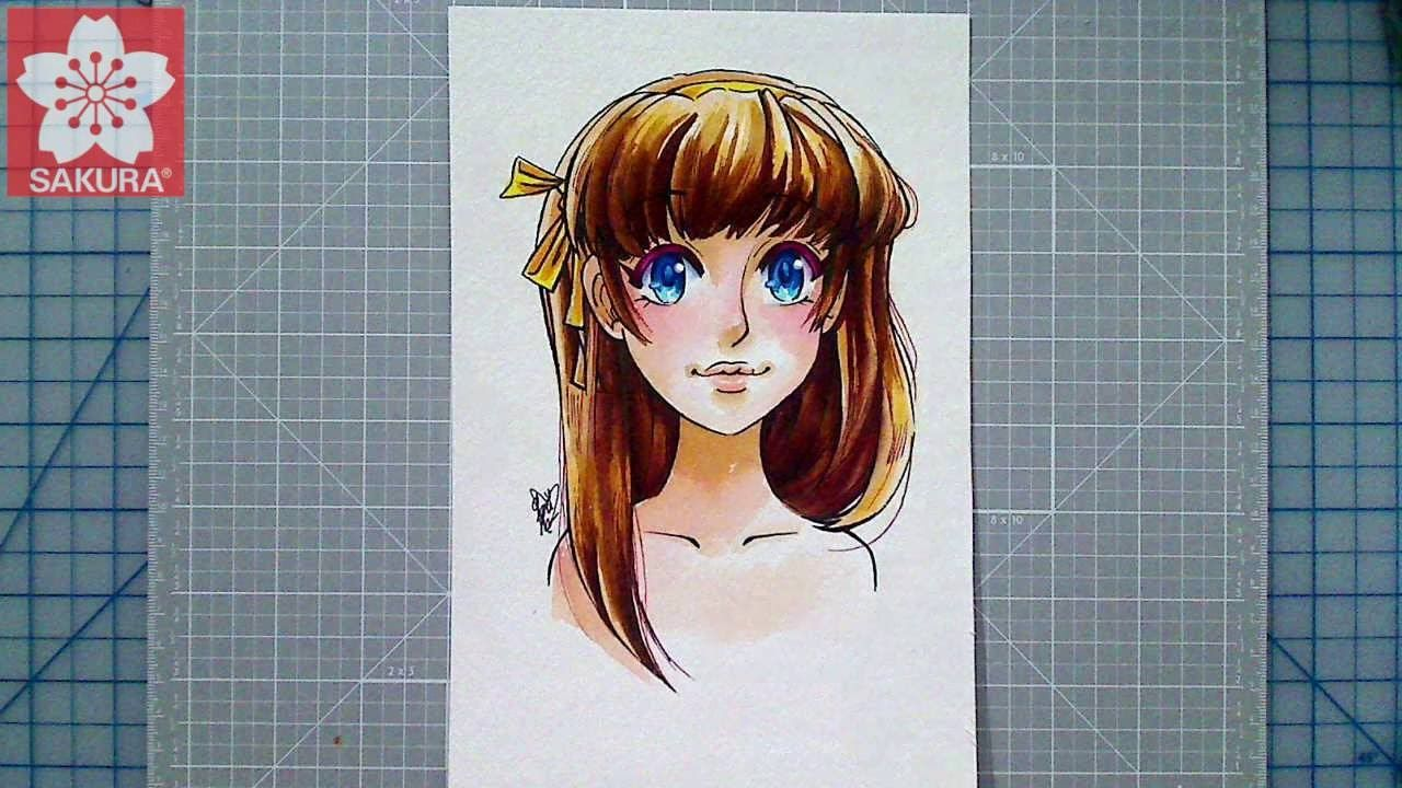 Color Manga Style Eyes With Koi Coloring Brush Pens Coloring Brush Pen Eye Drawing Tutorials Brush Pen