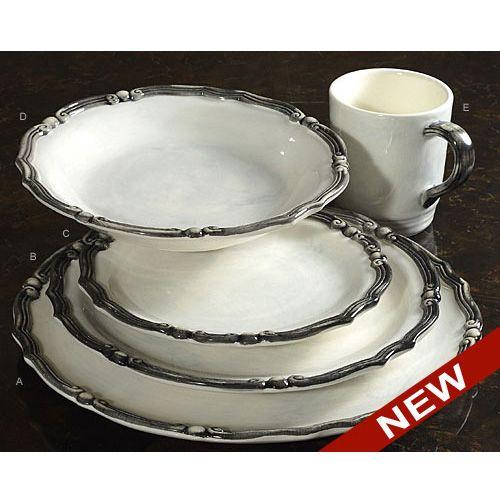 Mediterranean Style Dinnerware: Cararra Italian Dinnerware