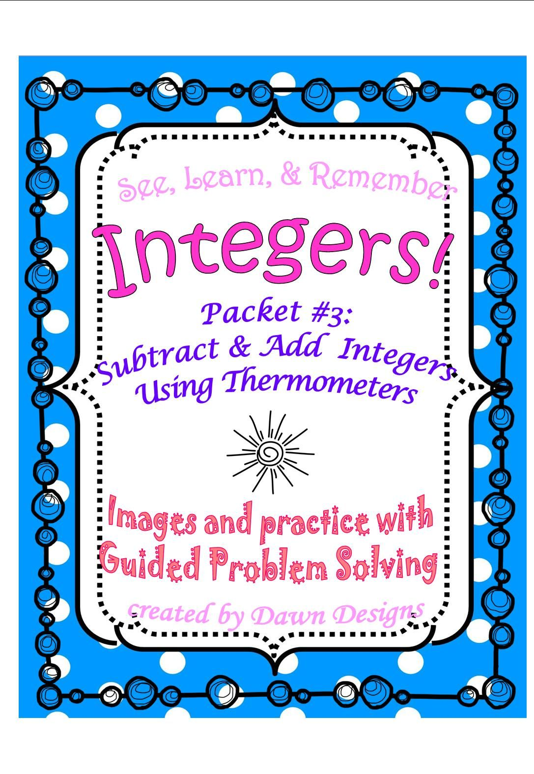 Integer Worksheet Subtract And Add Using Thermometers
