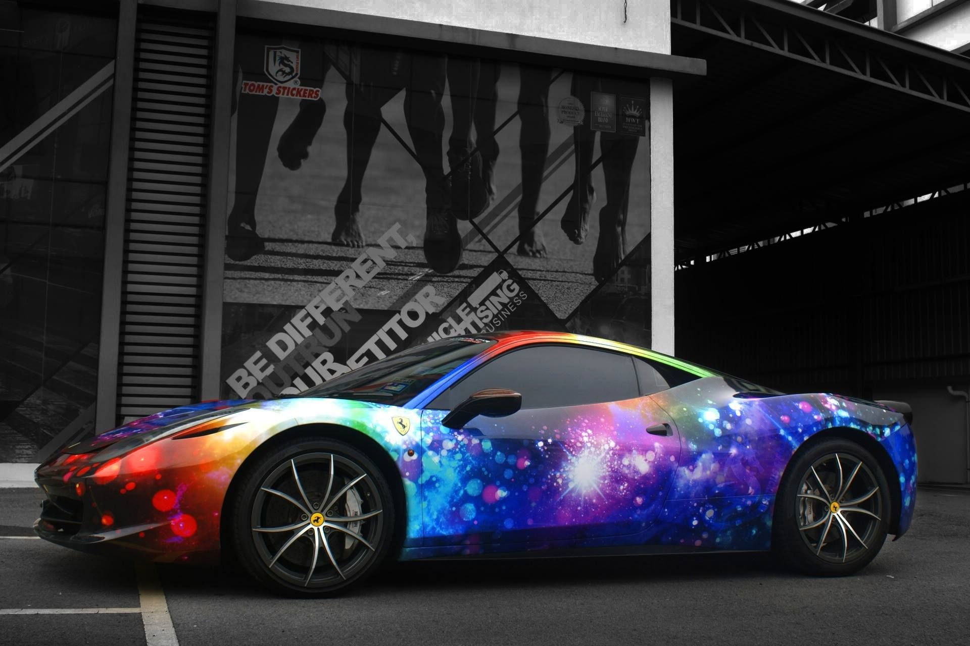 Car sticker design pinterest - Ferrari Full Wrap From Tom S Stickers