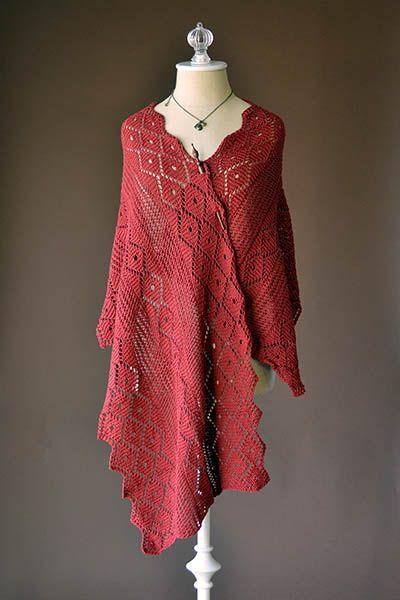 Poppy Stole Free Knitting Pattern