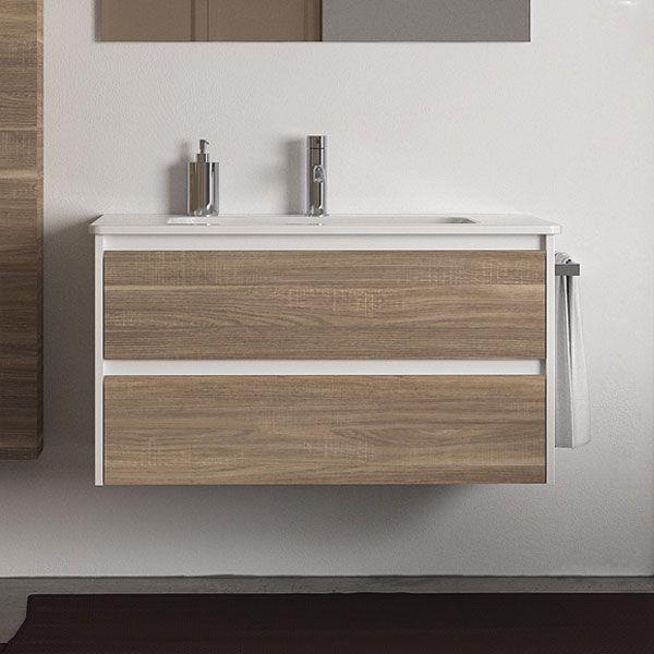 Berloni Bagno Form PR 100 Basin & Vanity with 2 Tranche Chiaro Drawers FORMPR100KITWHTC | E&S Trading - Kitchen, Bathroom & Laundry