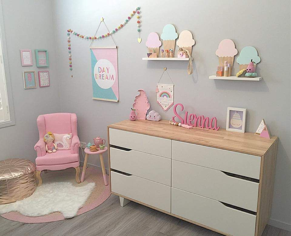 Pastel girls room lily