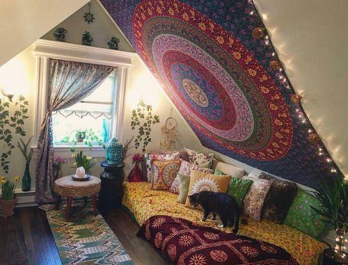 Pink Green Blue Boho Mandala Hippie Tapestry Bohemian