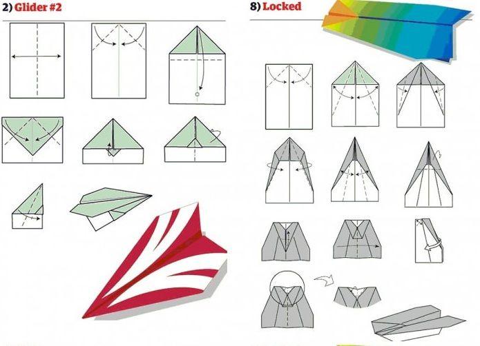 papierflieger anleitung paper plane tutorial papier. Black Bedroom Furniture Sets. Home Design Ideas
