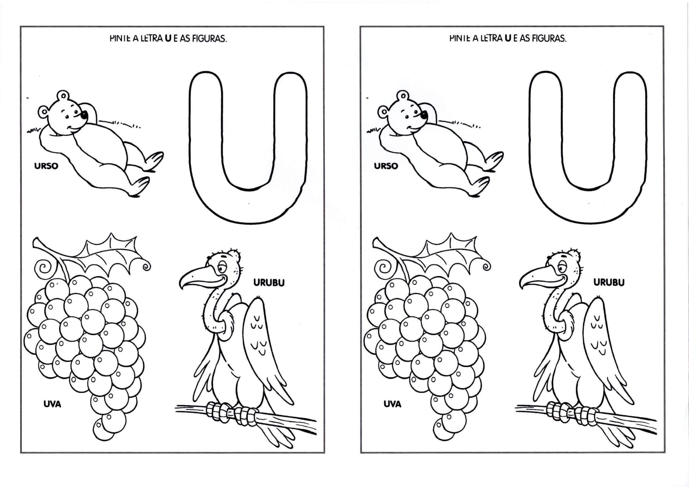 Vogais Pinte A Letra E As Figuras Atividades Para Criancas De 2