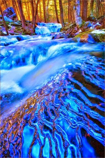 Layers of Blue Amethyst Brook