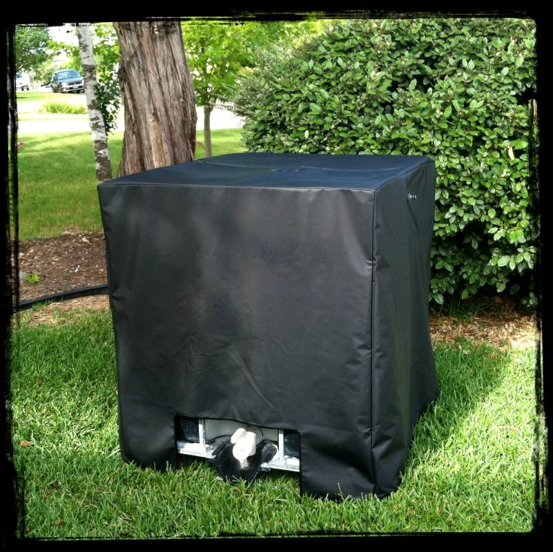 ibc tote rainwater cover kit garden garden pinterest aquaponics garden and water. Black Bedroom Furniture Sets. Home Design Ideas