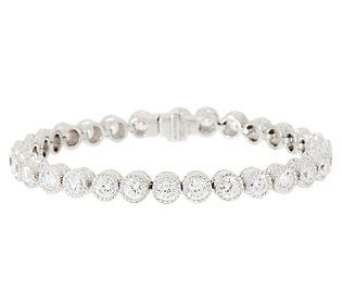Judith Ripka Sterling 118 Facet Diamonique Tennis Bracelet