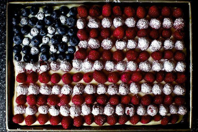 berry flag cake by smitten, via Flickr